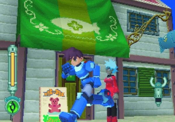 Der dritte Ausflug der Serie war das 1997er Mega Man Legends (hier und da auch als »Mega Man DASH« oder auch »Mega Man Neo« bekannt), das sich auf der PlayStation völlig vom 2D-Korsett löste und als 3D-Action-Adventure präsentierte. Und damit auch viele Spieler verwirrte, zumindest anfänglich - was vielleicht auch an Figurennamen wie »Tron Bonne« und »Rock Volnutt« lag. Nach drei Teilen war im Jahre 2000 vorläufig Schluss mit den Legenden, auch wenn Keiji Inafune nach wie vor felsenfest schwört, dass er als Nächstes am liebsten einen neuen Teil produzieren würde, idealerweise mit dem Lost Planet-3D-System - immerhin wurde auf der letzten Tokyo Game Show ein frisches Legends für japanische Handys enthüllt. 1734158