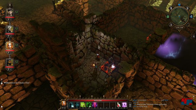 Nur wer den versteckten Wandschalter entdeckt, gelangt ans Ende des Falltürenlabyrinths.