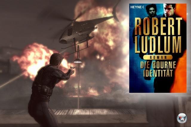 <br><br><b>The Bourne Identity</b> (Robert Ludlum, 1980)<br><br>Ludlums Original-Trilogie (Identity, Supremacy und Ultimatum) um den vergesslichen Attentäter Jason Bourne bot eigentlich alles, was ein knackiges Actiongame braucht: Einen tiefgründigen Helden, jede Menge Gefechte, viel Ballerei, heiße Verfolgungsjagden - und dennoch dauerte es bis zum Jahr 2008, bis endlich ein entsprechendes Spiel auf den Markt kam. »Das Bourne Komplott« war ein cooler Kracher, der auf dem ersten Film mit Matt Damon basierte. Und von dem es langsam ruhig mal einen Nachfolger geben könnte. 2056818