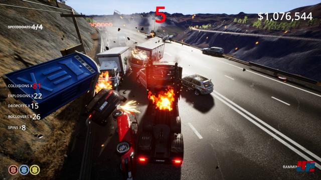 Mit dem LKW braucht man auf den sonstigen Verkehr kaum zu achten ...