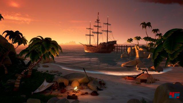 Die ansehnliche Kulisse mit ihren stimmungsvollen Panoramen sowie beeindruckenden Wellenbergen ist der Höhepunkt von Sea of Thieves.