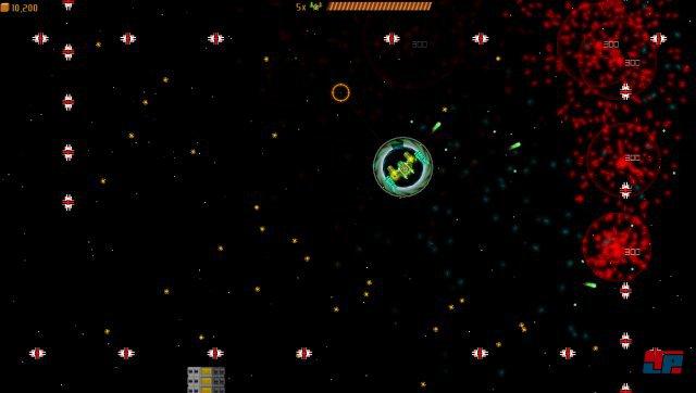 Zotrix verbindet Zweistick-Shooter mit klassischen Gegnerwellen à la Galaga.