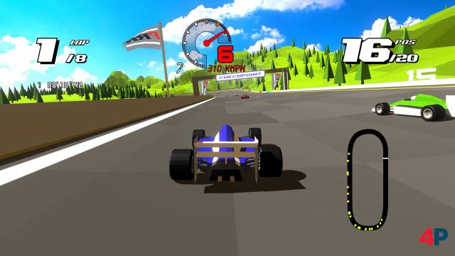 Formula Retro Racing erinnert nicht nur grafisch und akustisch an das erklärte Vorbild.