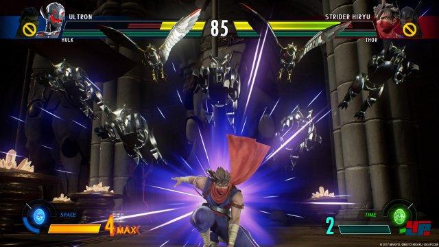 Wenn Strider seinen Spezialangriff aktivieren kann, wird es für den Gegner gefährlich.