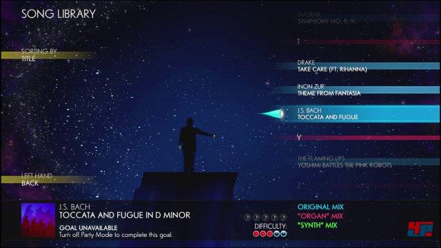 Die Songauswahl bietet über 30 Tracks von Klassik bis Gaga und Avicii.