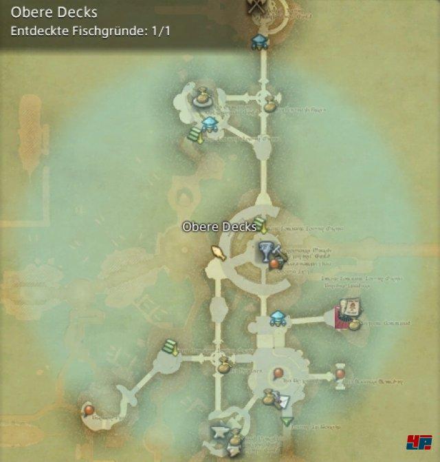 Final Fantasy XIV Online: A Realm Reborn - Fischgründe: La Noscea, Obere Decks