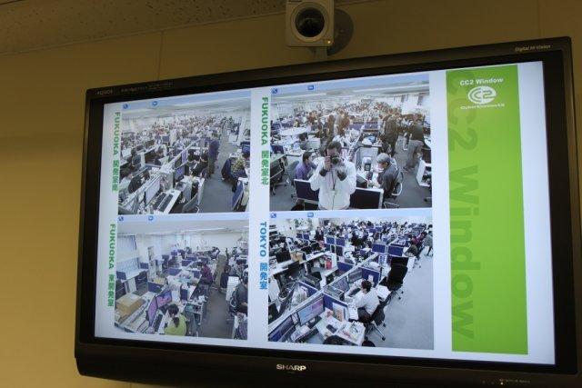 Die Leitung steht <br><br> Zusätzlich leisten 40 weitere Angestellte ihren Beitrag in einer neu gegründeten Zweigstelle in Tokio. Um die Kommunikation zu fördern und in ständigem Kontakt zu sein, sind beide Studios mit einem AV-System miteinander verbunden. 2317672