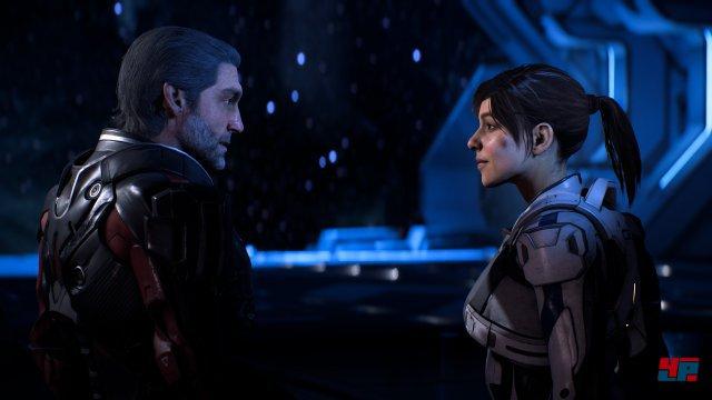 Sara spricht mit ihrem Vater über die Erkundung und die erste Mission.