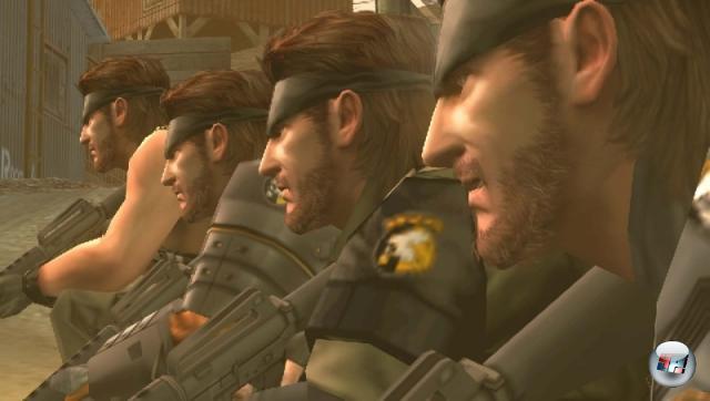 <b>Metal Gear: Peace Walker:</b><br><br>Ein komplett neues Metal Gear! Auf PSP! Mit Snakes Zwillingsbrüdern und mehr Reinhops-Kisten als je zuvor! Jörg und Michael laufen schon die ganze Zeit betrunken und glücklich durch Hamburgs Straßen. 1986073