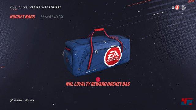 Was wäre Eishockey nur ohne diesen wertvollen Zeitvertreib? Auch in NHL 19 darf man jetzt Beutekisten, Verzeihung: Sporttaschen öffnen.