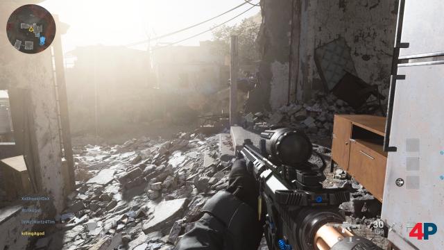 Lichteinstrahlung, Bodentexturen, Waffenmodelle - sogar im Mehrspieler-Modus (hier eine Koop-Karte) sieht das Spiel richtig stark aus.