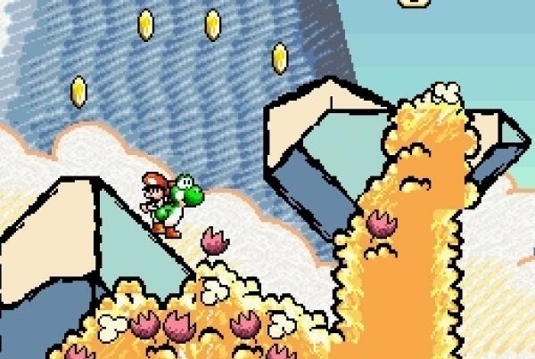 Super Mario World 2: Yoshi's Island (1995)<br><br>Fünf Jahre nach der Erfindung von Yoshi bekam der knuddeligste Saurier aller Zeiten endlich sein eigenes Abenteuer maßgeschneidert.  Und zwar eines, das man wortwörtlich so noch nie gesehen hat: Der abgefahrene, einzigartige Wachsmalstift-Look war ein gewagtes Experiment; glücklicherweise eines, das nicht nur die Herzen der Fans im Sturm eroberte, sondern auch noch von einem gewohnt exzellenten Design begleitet wurde. Zum ersten Mal steuert man nicht Mario, der im Spiel ein Baby ist, sondern eine Reihe von bunten Yoshis, die den kleinen Schreihals auf dem Rücken trugen. Und mit Eiern um sich schmissen. Ein zauberhaftes Spiel. 1724682