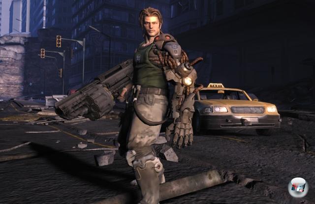 Nathan »RAD« Spencer<br><br>Der dreadlockige Held aus Bionic Commando ist derselbe, der schon vor gut 20 Jahren auf dem NES für Ruhe und Frieden vor bösartigen Generälen und sonstigem Gekreuch gesorgt hat - nur ist er mittlerweile um zehn Jahre gealtert, hat sowohl den blonden Scheitel als auch die rot-gelben Leggings ad acta gehängt und eine Extraportion Cool geschluckt. Außerdem trägt er einen bionischen Arm, was ihn automatisch zur coolen Sau macht. 1898278