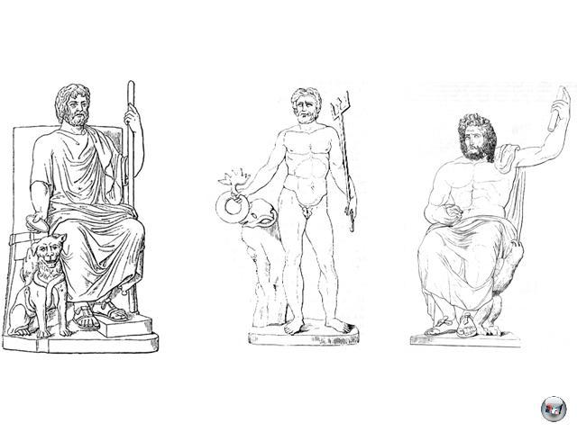 Kronos wiederum setzte  mit seiner eigenen Titanenschwester Rhea diverse Kinder in die Welt: Darunter Hades, Poseidon und Zeus (oben im Bild), die er alle aus Angst vor dem drohenden Vatermord verschlang. Nur der jüngste Sohn Zeus entkam diesem Schicksal. 2072133