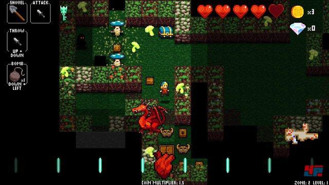 Es sieht aus wie ein altbackener Dungeon-Crawler, doch hinter dem Necrodancer verbirgt sich ein sehr unterhaltsamer Echtzeit-Puzzler.