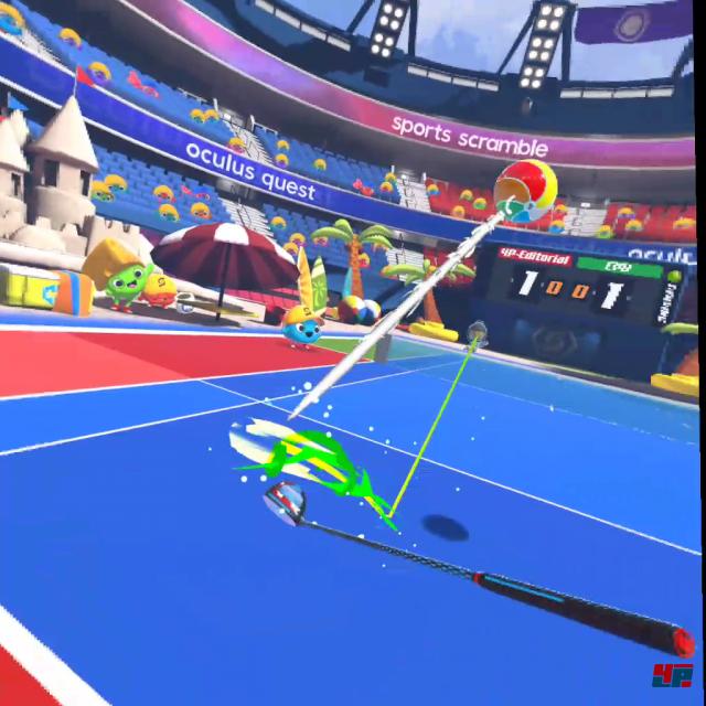 """Wasserball-Tennis mit dem Golfschläger gefällig? Oder lieber Ananas-Bowling auf Space-Invaders? Je nach Zufallsextra verhält sich die """"Murmel"""" ein wenig anders."""