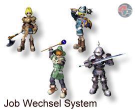 Jobwechsel sind für jeden Charakter zweimal möglich: die Grundklassen sind Dieb, Magier, Clerik und Kämpfer. 18692