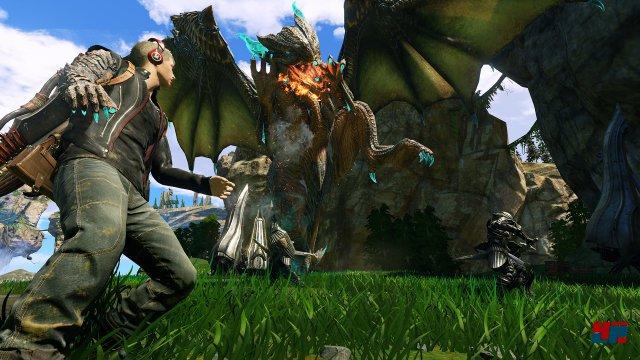 Nicht nur die actionreichen Spielszenen erinnern an Monster Hunter.