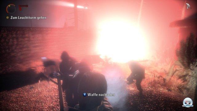 Die explosiven Feuergefechte im Dunkeln sorgen für Actionspaß.