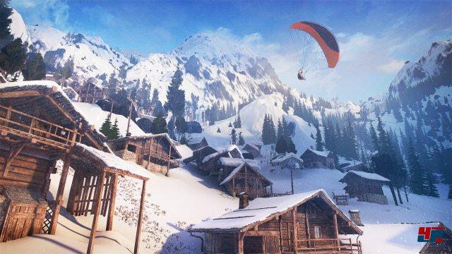"""Der eigentliche """"Held"""" in Steep ist die schöne Winterlandschaft."""