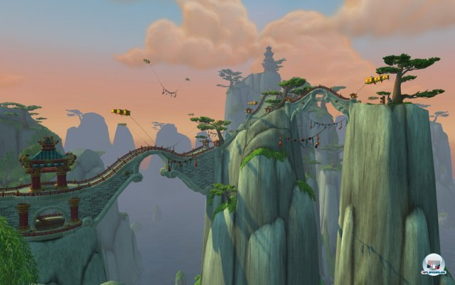 Mit den Flugreittieren kann ab Stufe 90 in Pandaria geflogen werden - und ein Wettrennen mit Wolkenschlangen gibt es ebenfalls.