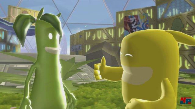 Blob ist wieder da, um mit seinen Freunden die Welt von Genosse Schwarz auf den Kopf zu stellen.