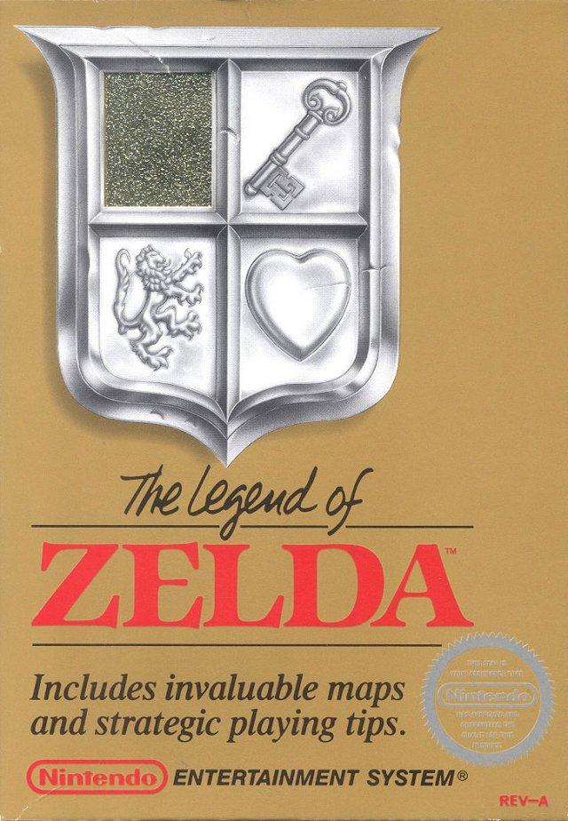 Die berühmte goldene Box von The Legend of Zelda für NES.