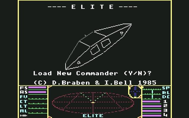 <b>Elite</b> (1984)<br> Entwickler: David Braben, Ian Bell<br> Publisher: Firebird 1748413
