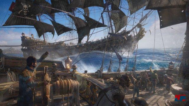 Man kämpft vom Schiff aus, nachdem man sich im Krähennest einen Überblick verschafft hat.