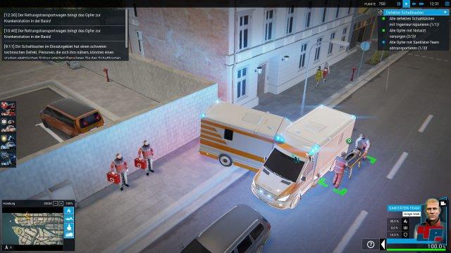 Nicht gerade realistisch animiert: Fahrzeuge drehen sich in engen Kurven auf der Mittelachse.