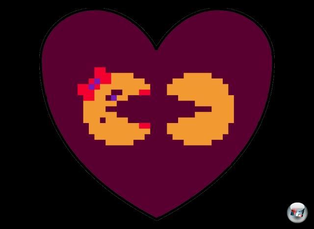 <b>Pac-Man und Mrs. Pac-Man</b>Die beiden waren von Anfang an füreinander bestimmt: Zwei gelbe Knubbel, die nicht nur denselben Geschmack für köstliche Pillen, sondern auch eine basisdemokratische Abneigung gegen bunte Geister haben. Kein Wunder, dass man schnell zusammenfand und noch schneller Nachwuchs bekam - die Pac-Mans dürften die einzige Familie im Videospielbereich sein, bei der jedes Mitglied mindestens ein eigenes Spiel hat. 1909398