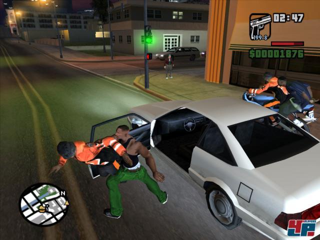 Die Fahrzeuge sind einfach geschnappt: Fahrer raus, Spieler rein.
