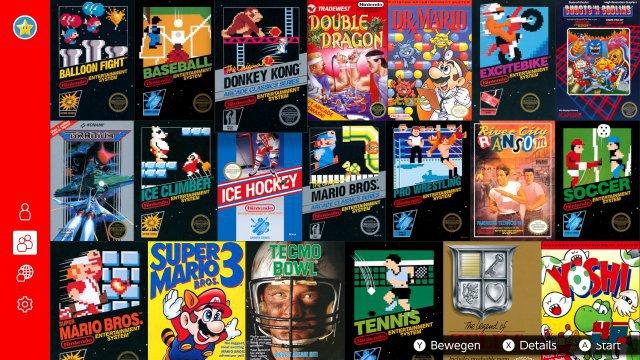 Die NES-Spielesammlung ist eine normale Spiele-App mit Online-Funktionen.