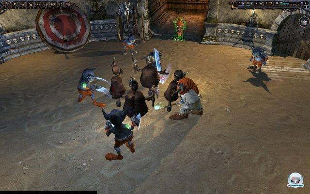 In der Trainings-Arena kann man die Fähigkeiten seiner Schergen grundlegend verbessern - ggf. auch unter Zuhilfenahme gefangener Helden.