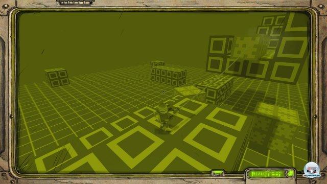 """Der """"Reality Boy"""" bereitet den Spieler aufs Abenteuer vor - inklusive Monochrom-Grafik und Ohrwurm-Gepiepse."""