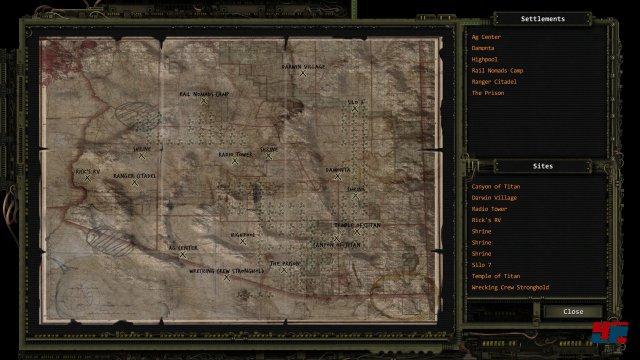 Mit der zeit füllt sich die Karte mit vielen Orten. Leider kann man regionale Karten nicht beschriften.