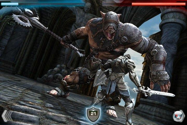 Mächtiges Schwert gegen mächtigen Gegner - Infinity Blade ist ein Actionspiel der ganz besonderen Sorte.