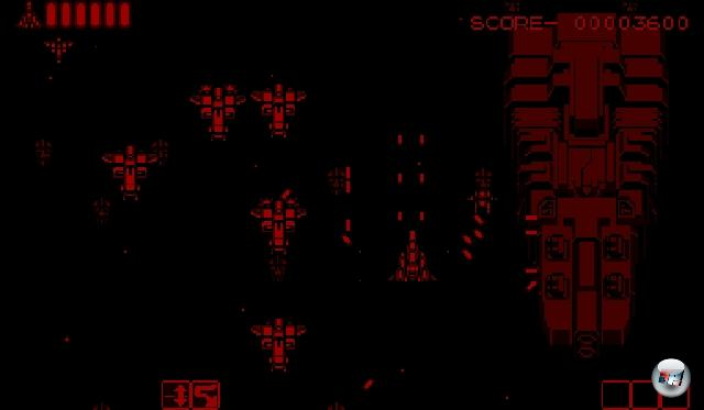 <b>Vertical Force</b> <br><br> Auch in Hudsons Vertical Force gibt es keine komplett räumlichen Kulissen. Wie schon der Titel verrät, handelt es sich um ein klassisches vertikales Shoot-em-up. Das Spiel macht sich die 3D-Fähigkeit des Virtual Boy trotzdem mit einem cleveren Kniff zunutze: Der kleine Gleiter kann direkt über der Planetenoberfläche schweben, aber auch  ein Stückchen höher fliegen. Wer geschickt per Knopfdruck zwischen den beiden Ebenen wechselt, kann übermächtigen Gegnerwellen elegant aus dem Weg gehen oder besonders viele Widersacher erledigen. Sehr gut gelungen ist auch der Soundtrack: Die aus dem piepsenden Soundchip gekitzelten Melodien besitzen beinahe so große Ohrwurm-Qualitäten wie die Stücke in Mario's Tennis.  2211709