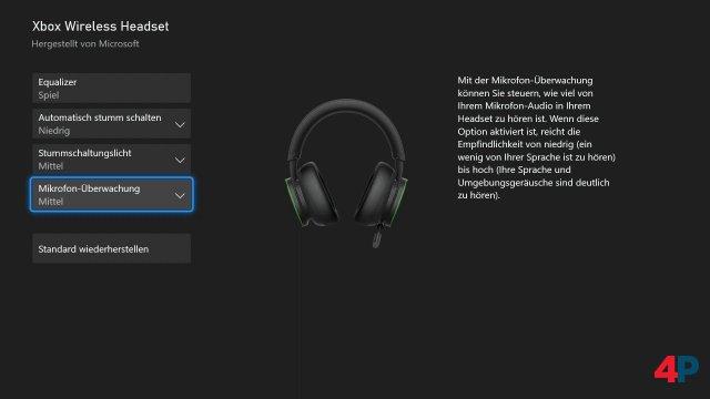 Feineinstellungen am Mikrofon, darunter eine automatische Stummschaltung und die Unterdrückung von Umgebungsgeräuschen, sind ebenfalls in der App möglich.