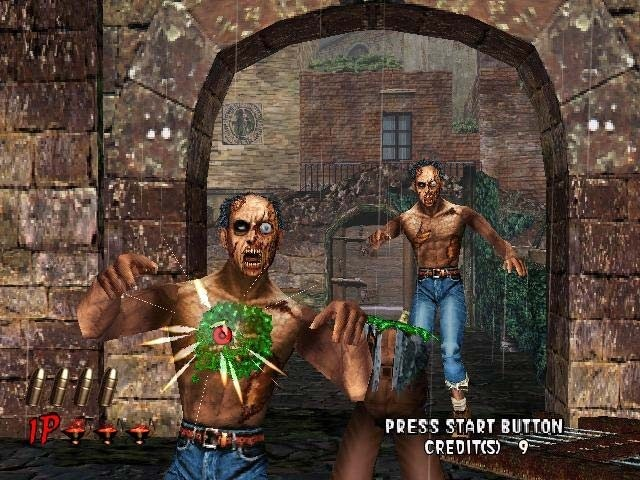<br><br>Lightgun-Shooter hatten in Deutschland schon immer einen schweren Stand und so landete auch House of the Dead 2 trotz Anpassungen in Form von grünem Zombie-Blut bei uns auf dem Index: Wer die Perle trotzdem sein Eigen nennt, der weiß, dass man nicht nur in der Spielhalle, sondern auch auf Segas Heimkonsole seinen Spaß damit haben konnte - vornehmlich mit zwei Lichtpistolen im Koop-Geballer. Überhaupt waren Fans des Genres mit der Dreamcast gut bedient: So veröffentlichte Sega gegen Ende mit Confidental Mission eine weitere gelungene Umsetzung eines Spielhallenautomaten. 2068258