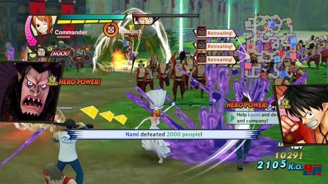 Man metzelt sich in gewohnter Warriors-Manier durch Massen an Gegnern, um Energie für fulminante Spezialangriffe zu sammeln.