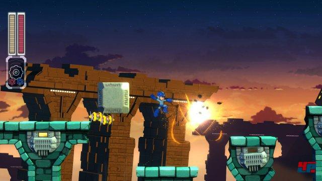 Auch wenn die Kulisse sich in Mega Man 11 endlich zeitgemäß zeigt, bleibt die Kernmechanik weitgehend unberührt.