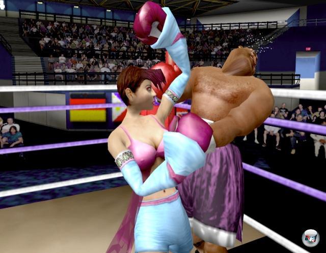 <b>Ready 2 Rumble Boxing (Serie)</b><br><br>...ging es auf Dreamcast, N64, PlayStation und Game Box Color erstmal in den Comicring: Ready 2 Rumble Boxing verabschiedete sich vom ernsthaften Ansatz der Konkurrenz und präsentierte wunderbar arcadice Comic-Kloppereien mit abgefahrenen Boxern - die nicht nur sehr unterschiedliche Kampfstile, sondern auch sehr unterschiedliche Persönlichkeiten und Sprüche hatten. Übrigens nahm das Spiel in der GBC-Fassung seinen Namen sehr wörtlich: Hier gab es einen Rumble-Effekt. 2203909