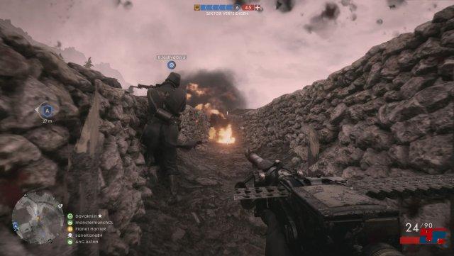 Sogar die berühmt-berüchtigten Grabenkämopfe gestalten sich in Battlefield 1 nicht zäh, sondern spannend.