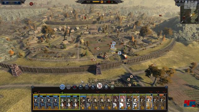 Die Zeit der Römerwälle ist vorbei: Palisaden dominieren die befestigten Städte.