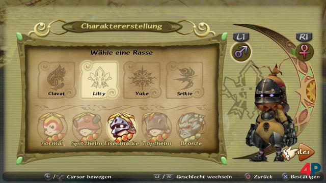 Vor Spielbeginn bastelt man sich per simplem Editor einen eigenen Protagonisten.