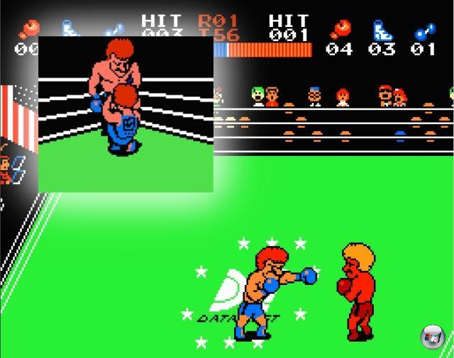 <b>Ring King</b><br><br>Ring King war Data Easts Versuch, auf der Ruhmwelle von Punch-Out!! mitzuschwimmen. Was negativer klingt als es gemeint ist, denn das Spiel, das ursprünglich (1985) in der Arcade beheimatet war und zwei Jahre später seinen Weg aufs NES fand, bot einige frische Ansätze: Man konnte frei im Ring herumlaufen sowie unterschiedliche Schläge platzieren. Für den größten Spaß (oder die peinlichsten Momente, falls Mutti im falschen Moment den Raum betrat) am Fernseher sorgte allerdings die Frage, was zum Henker da in den Ringpausen abging. Wurde da etwas festgezurrt oder verhalf der Ringarzt den Boxern da sehr selbstlos zu neuer Kraft? 2203884
