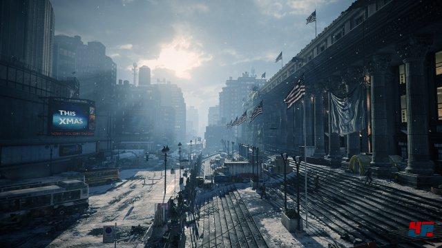 Die Kulisse sieht auch auf der Xbox One fantastisch aus und fängt die Endzeit-Atmosphäre klasse ein.