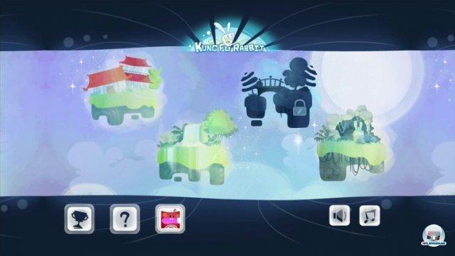 Drei Welten mit jeweils 20 Abschnitten stehen zur Auswahl. Die vierte Welte besteht aus Bonus-Leveln.