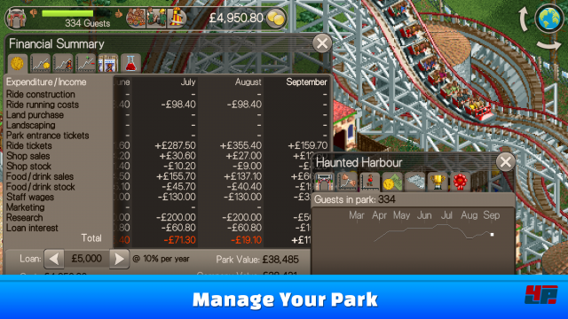 Screenshot - RollerCoaster Tycoon (Android) 92538008
